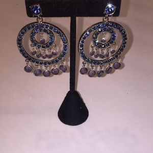 2 inch Blue crystal holiday post STUNNING.